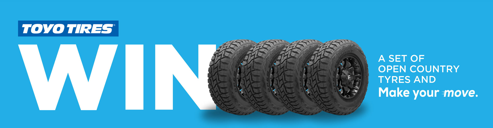 Win a set of Open Country tyres so you can get out there and make your move.